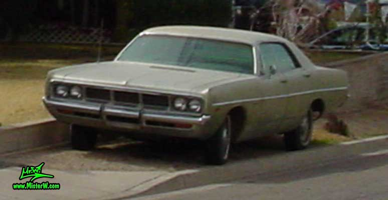 Photo of a olive 1969 Dodge 4 Door Hardtop Sedan in Sunnyslope, Arizona. 69 Dodge