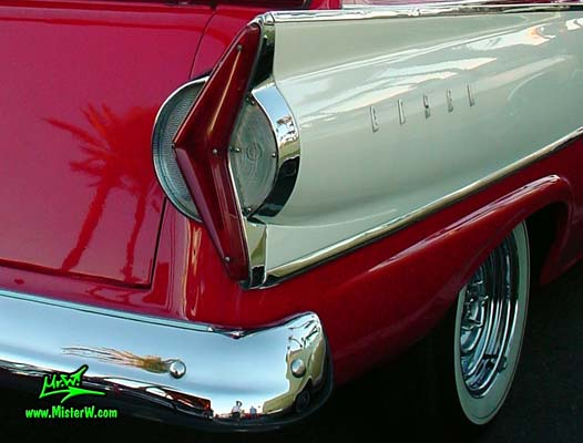 Photo of a red & white 1958 Edsel Roundup 2 Door Station Wagon at the Scottsdale Pavilions Classic Car Show in Arizona. 1958 Edsel Roundup Station Wagon Tail Light