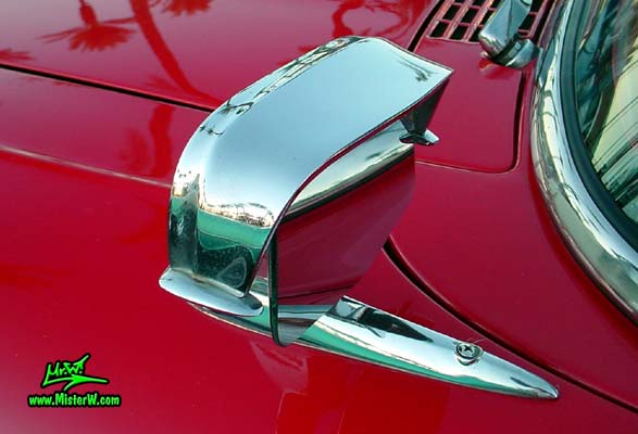 Photo of a red & white 1958 Edsel Roundup 2 Door Station Wagon at the Scottsdale Pavilions Classic Car Show in Arizona. 1958 Edsel Roundup Wagon Side Mirror
