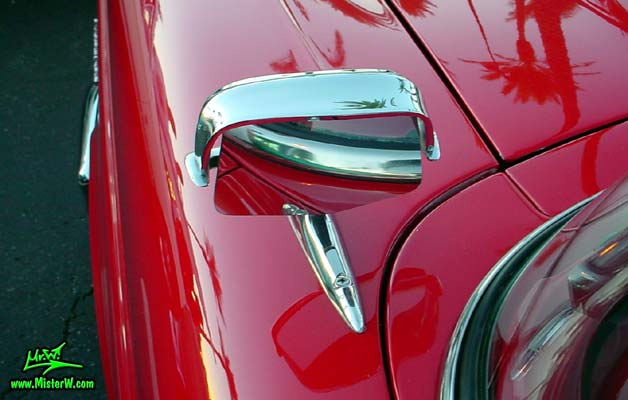 Photo of a red & white 1958 Edsel Roundup 2 Door Station Wagon at the Scottsdale Pavilions Classic Car Show in Arizona. 1958 Edsel Driver Side Mirror