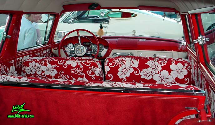 Photo of a red & white 1958 Edsel Roundup 2 Door Station Wagon at the Scottsdale Pavilions Classic Car Show in Arizona. 1958 Edsel Roundup Seats & Interior