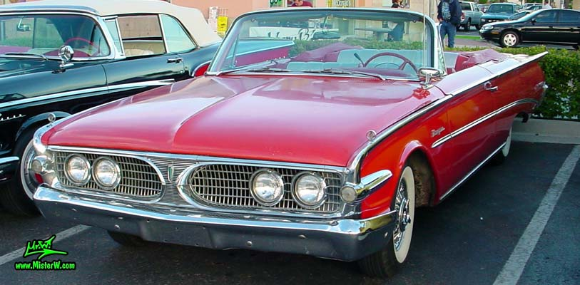 Photo of a red 1960 Edsel Ranger Convertible at the Scottsdale Pavilions Classic Car Show in Arizona. 60 Edsel Ranger 2 Door Convertible