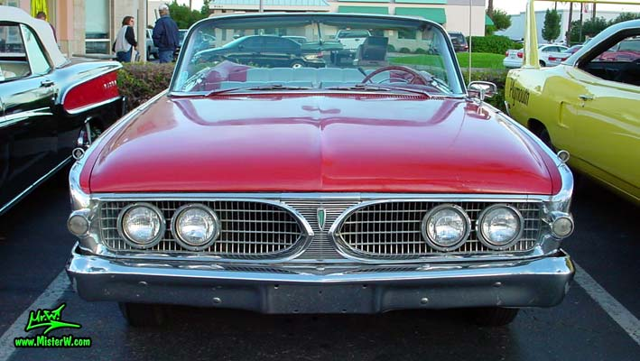 Photo of a red 1960 Edsel Ranger Convertible at the Scottsdale Pavilions Classic Car Show in Arizona. 60 Edsel Convertible