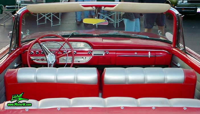 Photo of a red 1960 Edsel Ranger Convertible at the Scottsdale Pavilions Classic Car Show in Arizona. 60 Edsel Ranger Convertible Interior