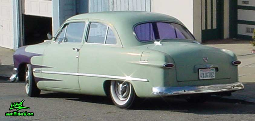 Photo of a jade green 1950 Ford 2 Door Hardtop Coupe in San Francisco. 1950 Ford 2 Door Hardtop Coupe
