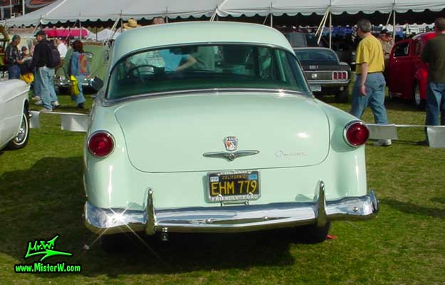 Photo of a jade green 1953 Ford Custom Line 2 Door Hardtop Coupe at a classic car auction in Scottsdale, Arizona. 1953 Ford Rear Lights
