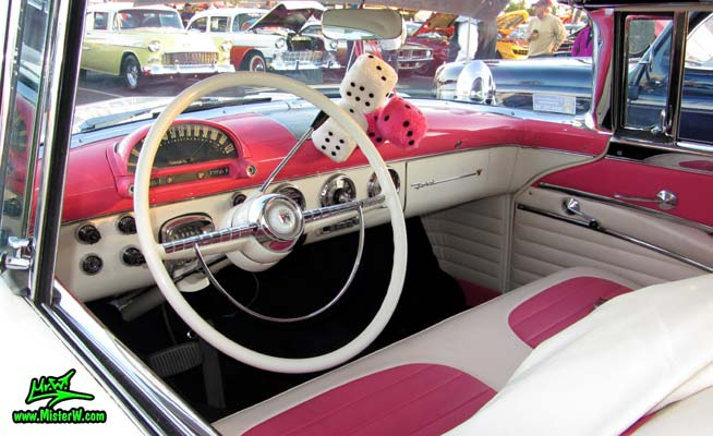 interior of a 1955 ford crown victoria 2 door hardtop coupe 1955 ford crown victoria 2 door. Black Bedroom Furniture Sets. Home Design Ideas