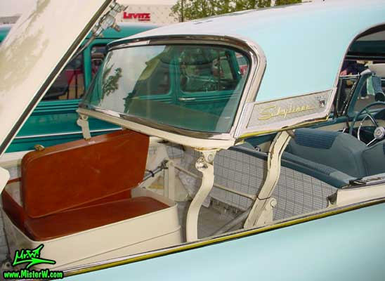 Photo of a white & blue 1957 Ford Fairlane Retractable Hardtop / Convertible at the Scottsdale Pavilions Classic Car Show in Arizona. Trunk Space of a 1957 Ford Retractable