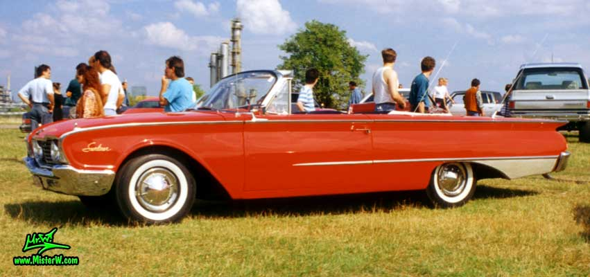 Red 1960 Ford Sunliner Convertible