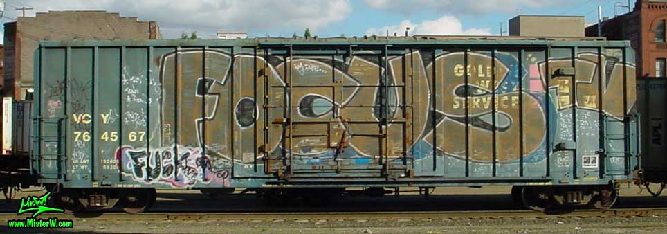 Freight Train with Graffiti - Photography by Mr.W. - www.MisterW.com