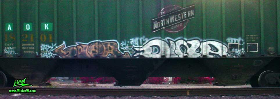 SaeR DIaR Saer Diar Freight Train Graffiti