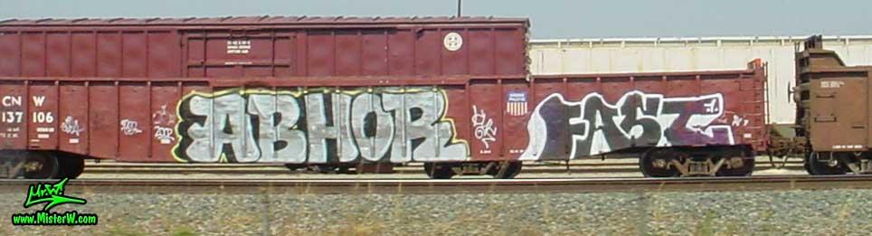 ABHOR FAST Abhor Fast Freight Train Graffiti