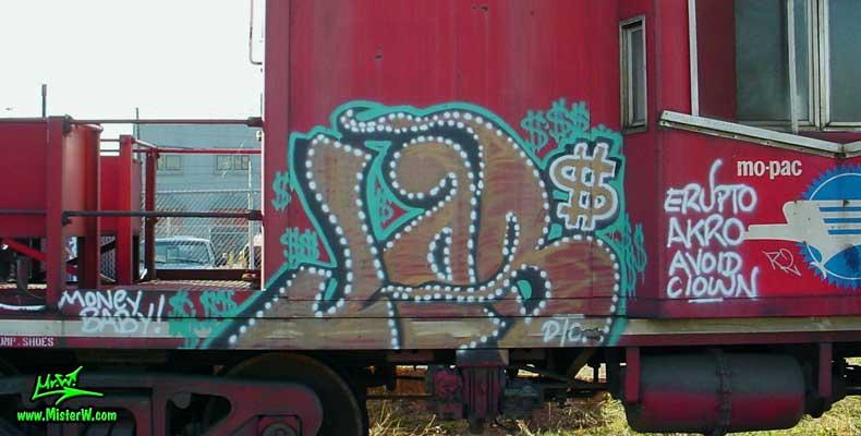JOB Job Freight Train Graffiti