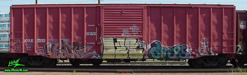 VodKa otraS Vodka Otras Freight Train Graffiti