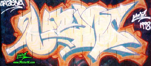 Arizona Graffiti Paint Session after the Nitty Gritty Graff Show Mr.W in Arizona