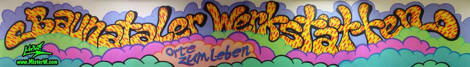 Graffiti Painting in Baunatal, Germany, August 2003