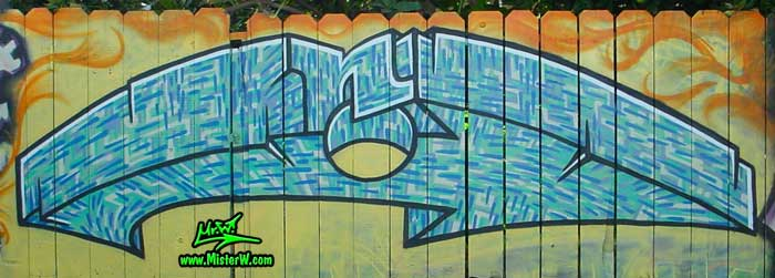 Beach Graffiti Painting in Imperial Beach, California, July 2002 - Photography by Mr.W. - www.MisterW.com