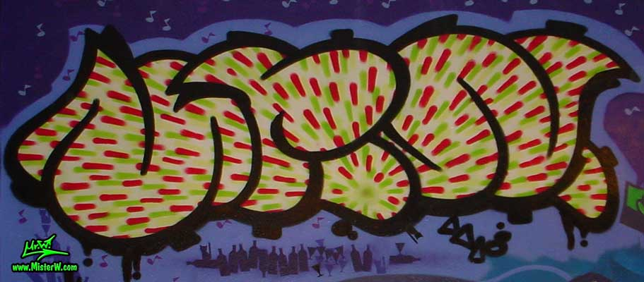 Bubble-Style Graffiti Painting in Kassel, Germany, August 2003