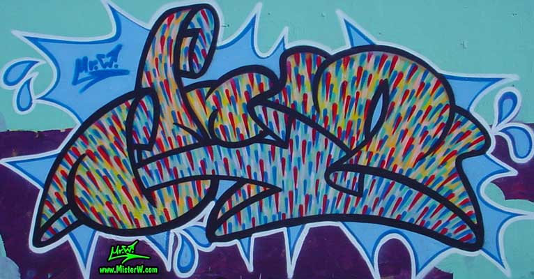 My first graffiti painting in Chicago Chicago Mr.W. Graffiti