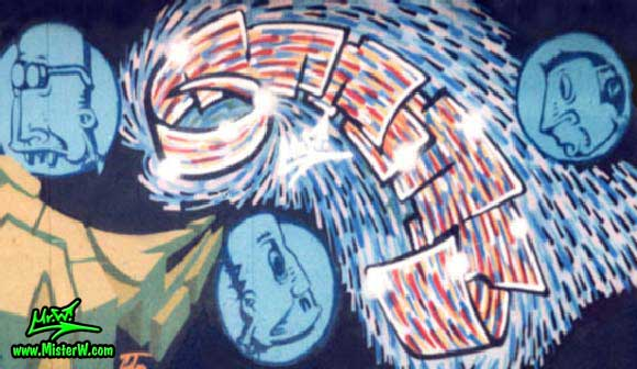 Graff Show Painting in Phoenix, Arizona, July 1998 - Photography by Mr.W. - www.MisterW.com