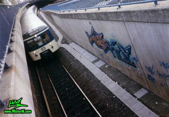 Graffiti Painting in Hamburg, Germany, 1987