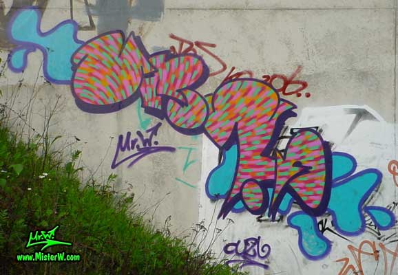 Quick-Piece Graffiti in Kassel, Germany, May 2003
