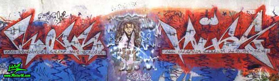 Silver Rock The House Graffiti... Character by Jazy T.S.R. (The Serious Rebels) Rock The House