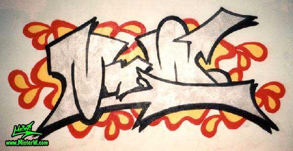 Mr W Silver Piece Silver Graffiti Piece In Phoenix