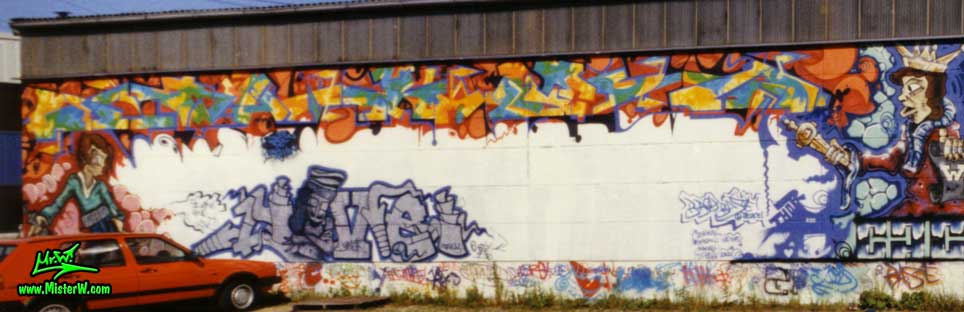 Wildstyle Graffiti Painting in Hamburg, Germany, 1989