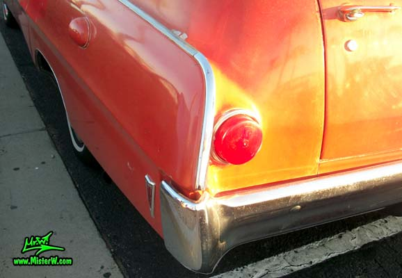 Photo of a red & white 1968 Pontiac Ambulance at the Scottsdale Pavilions Classic Car Show in Arizona. 68 Pontiac Ambulance Bumper Corner & Tail Light