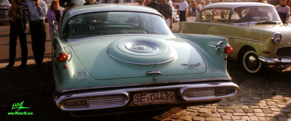 Photo of a turquoise 1958 Imperial 4 Door Hardtop Sedan at the Wheels Nationals classic car meeting in Hamburg, Germany. 1958 Imperial Tail Lights