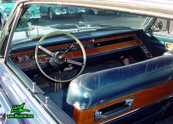 Photo of a blue 1967 Imperial 4 Door Hardtop Sedan at the Scottsdale Pavilions Classic Car Show in Arizona. 1967 Imperial Interior & Dashboard