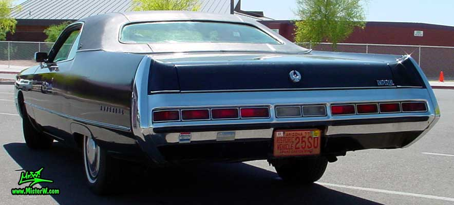 Photo of a black 1971 Imperial 2 Door Hardtop Coupe at a Classic Car Meeting in Phoenix, Arizona. 1971 Imperial Tail Lights
