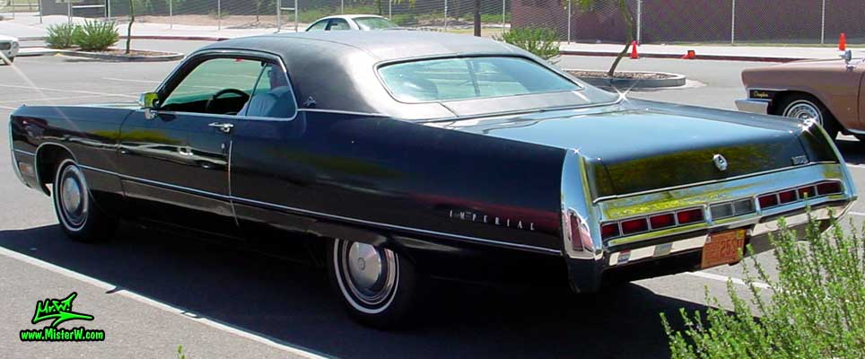 Photo of a black 1971 Imperial 2 Door Hardtop Coupe at a Classic Car Meeting in Phoenix, Arizona. 1971 Chrysler Imperial Coupe