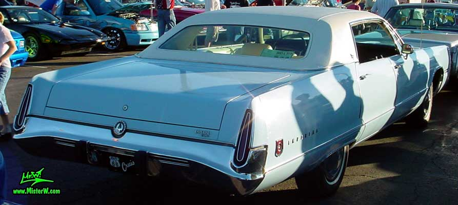 Photo of a blue 1973 Imperial 4 Door Hardtop Sedan at the Scottsdale Pavilions Classic Car Show in Arizona. 1973 Imperial Sedan Tail Lights