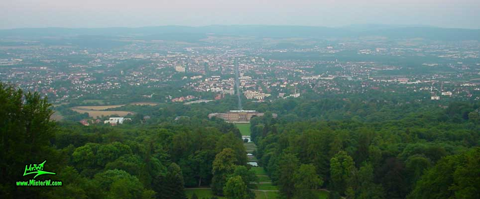 Photo of the Skyline of Kassel taken from the Herkules castle in summer 2003 Kassel, Germany from the Herkules
