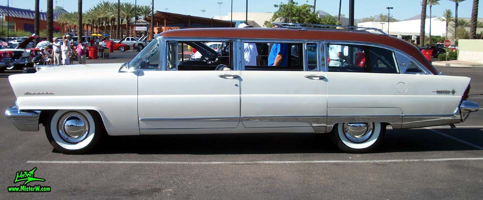 Photo of Phil Schaefer's Custom Built 1956 Lincoln Pioneere Station Wagon at the Scottsdale Pavilions Classic Car Show in Arizona. 1956 Lincoln Pioneere Station Wagon
