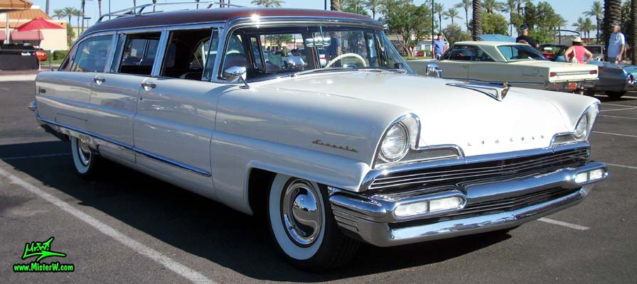 Photo of Phil Schaefer's Custom Built 1956 Lincoln Pioneere Station Wagon at the Scottsdale Pavilions Classic Car Show in Arizona. Phil Schaefer's Custom Built 1956 Lincoln Pioneere Station Wagon