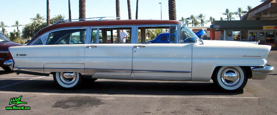 Photo of Phil Schaefer's Custom Built 1956 Lincoln Pioneere Station Wagon at the Scottsdale Pavilions Classic Car Show in Arizona. 1956 Lincoln Wagon
