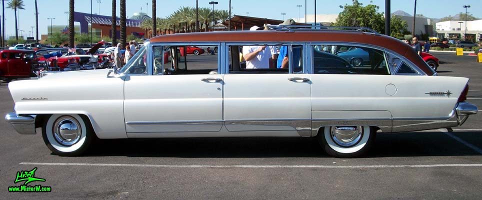 Photo of Phil Schaefer's Custom Built 1956 Lincoln Pioneere Station Wagon at the Scottsdale Pavilions Classic Car Show in Arizona. 1956 Lincoln Pioneere Station Wagon Driver's Side