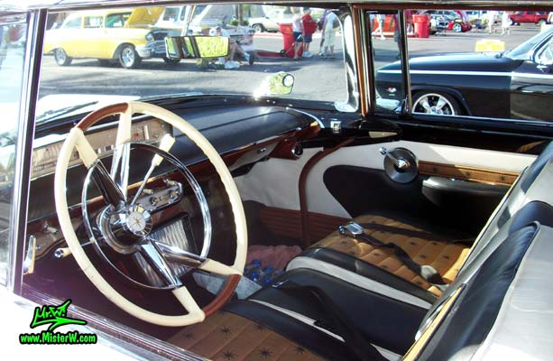 Photo of Phil Schaefer's Custom Built 1956 Lincoln Pioneere Station Wagon at the Scottsdale Pavilions Classic Car Show in Arizona. 1956 Lincoln Pioneere Station Wagon Interior
