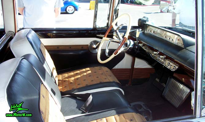 Photo of Phil Schaefer's Custom Built 1956 Lincoln Pioneere Station Wagon at the Scottsdale Pavilions Classic Car Show in Arizona. 1956 Lincoln Pioneere Station Wagon Steering Column
