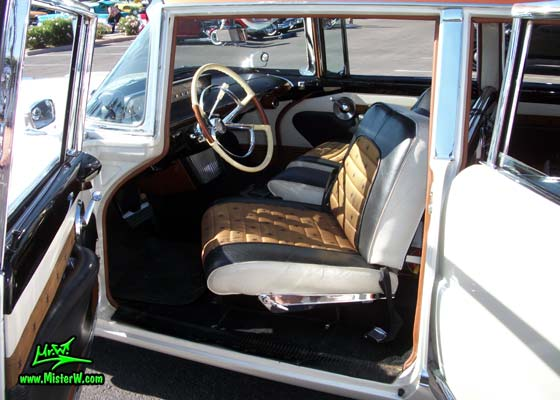 Photo of Phil Schaefer's Custom Built 1956 Lincoln Pioneere Station Wagon at the Scottsdale Pavilions Classic Car Show in Arizona. 1956 Lincoln Pioneere Station Wagon with swing-out seat