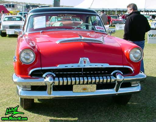 Photo of a red 1954 Mercury Monterey 2 Door Hardtop Coupe at a Classic Car Auction in Scottsdale, Arizona. 54 Mercury