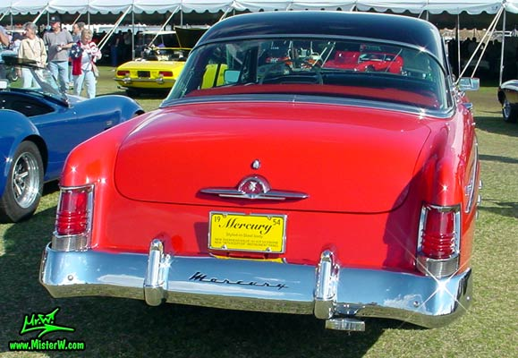 Photo of a red 1954 Mercury Monterey 2 Door Hardtop Coupe at a Classic Car Auction in Scottsdale, Arizona. 1954 Mercury Tail Lights & Chrome