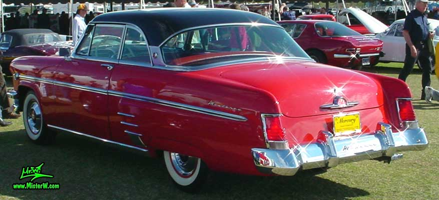 Photo of a red 1954 Mercury Monterey 2 Door Hardtop Coupe at a Classic Car Auction in Scottsdale, Arizona. 54 Mercury Monterey