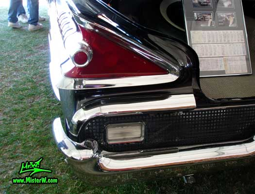 Photo of a black 1959 Mercury Montclair 2 Door Hardtop Coupe at a Classic Car Auction in Scottsdale, Arizona. 1959 Mercury Tail Light
