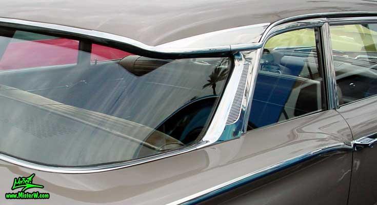 Photo of a beige 1960 Mercury Monterey 2 Door Hardtop Coupe at the Scottsdale Pavilions Classic Car Show in Arizona. 1960 Mercury Panoramic Rear Window