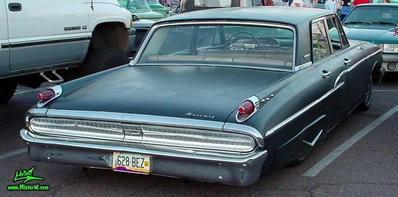 Photo of a flat black 1962 Mercury 4 Door Hardtop Sedan at a Classic Car Meeting in Arizona. 1962 Mercury Rearview