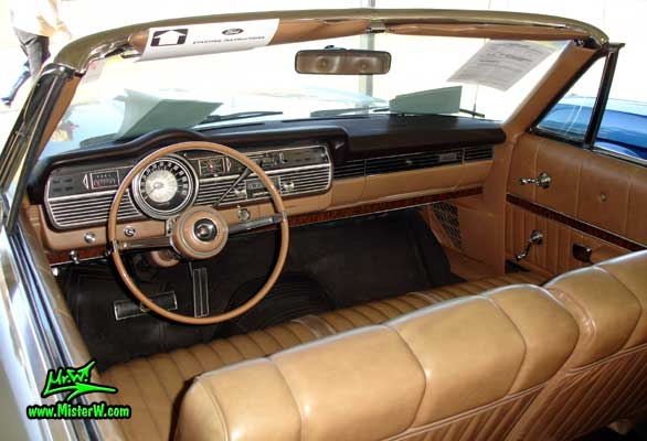 Photo of a silver 1967 Mercury 2 Door Convertible at a Classic Car Auction in Scottsdale, Arizona. 1967 Mercury Dashboard